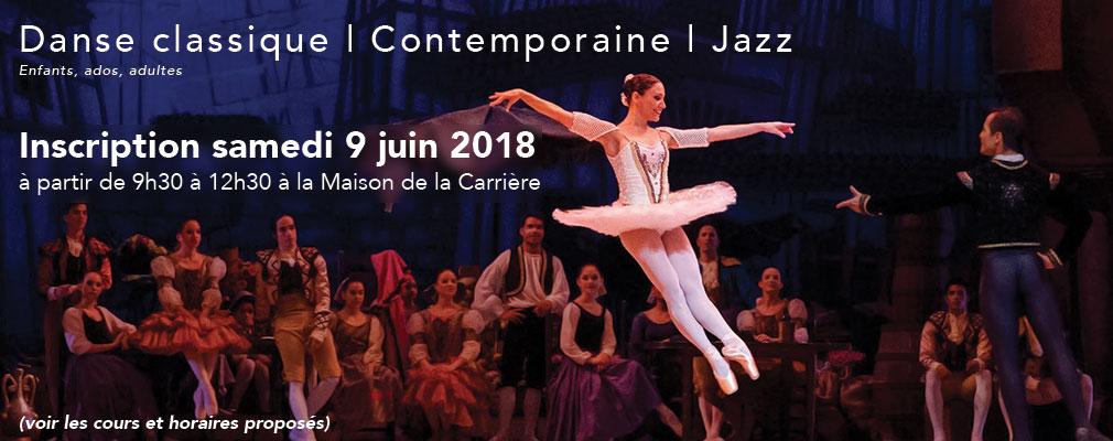 Inscription cours de danse 2018, Culture Loisirs Orvault, CLO